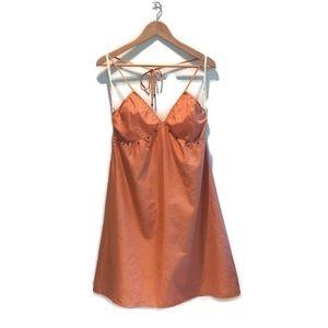 Aritzia Wilfred iridescent orange summer dress